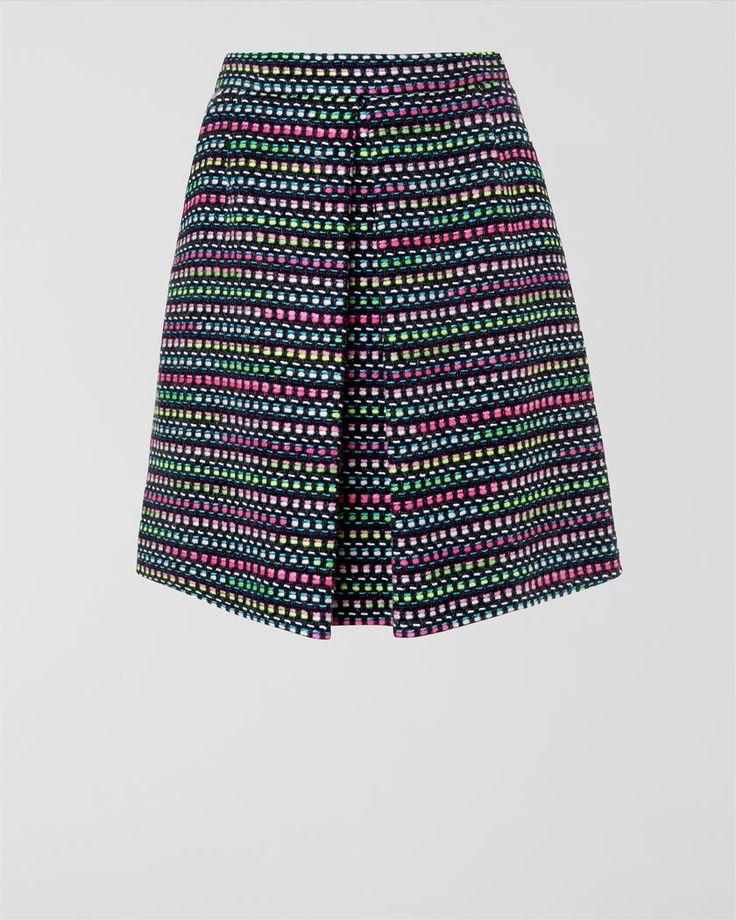 Neon Tweed Skirt