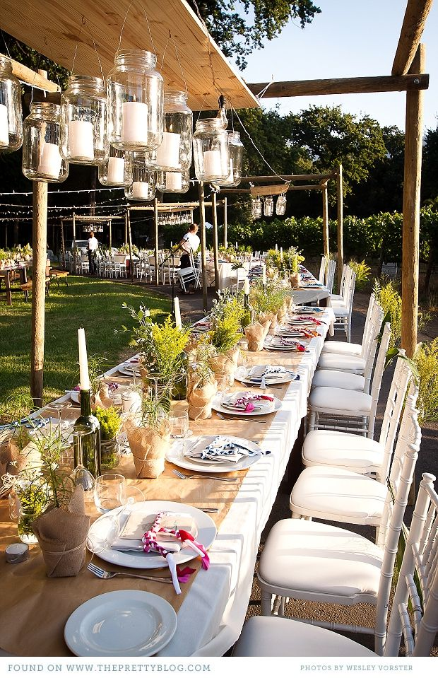 love it - outside wedding - something like this (smaller, probably, because i don't plan on so many people)