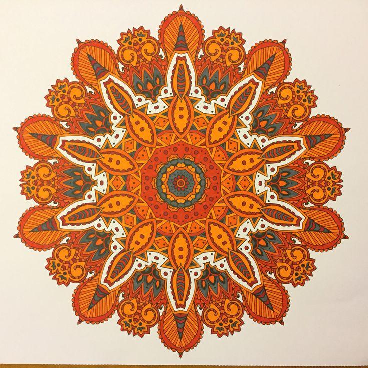 Mandala oranje
