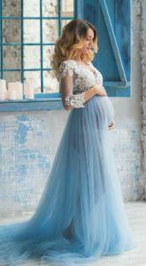 Будуарное платье Sophie Blue