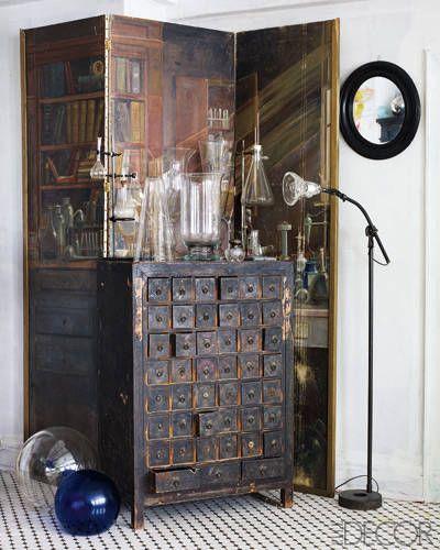 Antiques dealer Liza Sherman's Manhattan Apartment - ELLE DECOR
