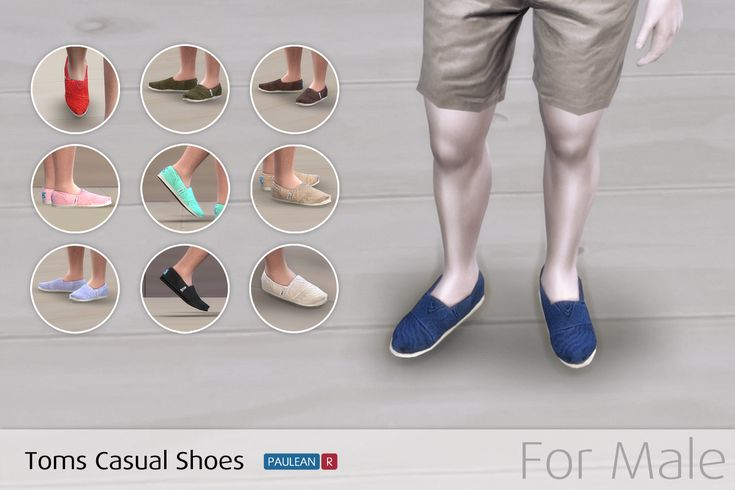 Sims 4 Toms Casual Shoes – 帆布休閒鞋 (for male) | Paulean R Sims