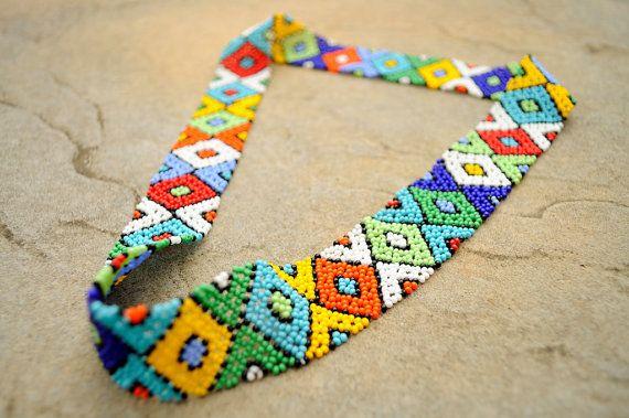 African beaded headbandAfrican beaded by akwaabaAfrica on Etsy