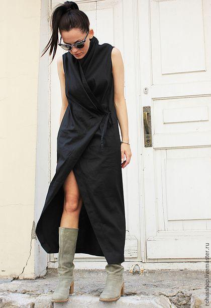 Купить или заказать Платье жилет  Rohas в интернет-магазине на Ярмарке Мастеров. Стильное платье жилет сейчас выполняется из поливискозы, на запах . Завязывается внутри на завязках, и снаружи. Можно носить как самостоятельное платье с абсолютно любой обувью ,в этом оно очень универсальное, вам стоит надеть другую обувь, и платье уже будет смотреться иначе. Так же эту модель можно носить как жилет или кардиган с вашими любимыми джинсами , брюками.