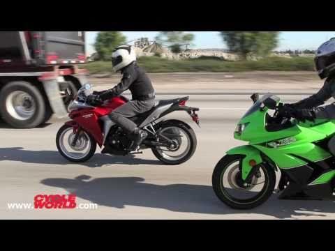 Kawasaki Ninja 250R vs. Honda CBR250R - Bonus Video