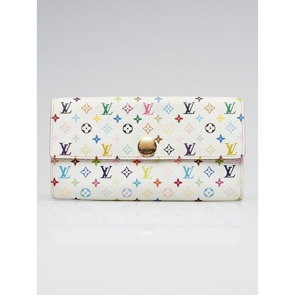 Pre Owned Louis Vuitton White Monogram Multicolore Sarah Wallet 345 Liked On Polyvore Featuring Colorful Wallet Pre Owned Louis Vuitton Louis Vuitton Bag