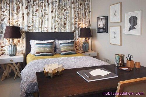 nice Yeşil Yatak Odası Dekorasyon Fikirleri