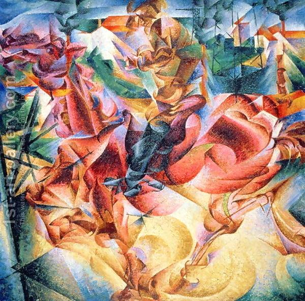 Elasticity,-1916, Umberto Boccioni (Italian Futurist Artist)