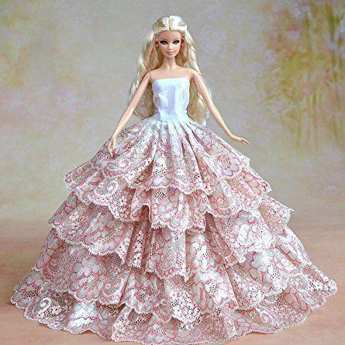Barbie Pink Wedding Dresses: 35 Best Barbie Doll Gowns Images On Pinterest