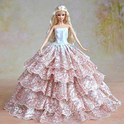 35 best images about barbie doll gowns on pinterest for Wedding dresses for barbie dolls