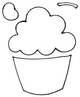 cupcake template for bakery - I am actually going to use this for contractions. The frosting top can be the contraction & bottom can be the 2 real words.