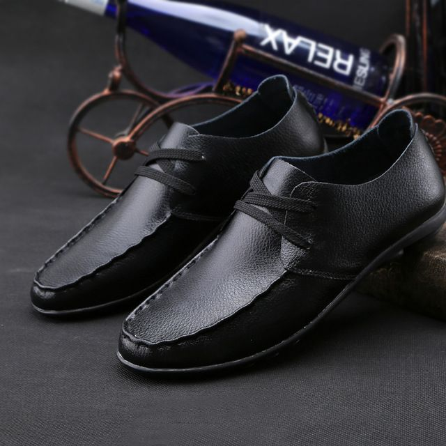 Check current price Genuine leather Men flats shoes,Brand Handmade Men Casual leather shoes,Leather Moccasin,Fashion Men driving loafers just only $26.50 with free shipping worldwide  #menshoes Plese click on picture to see our special price for you