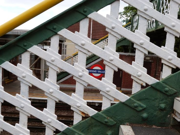 .Bridge at Roding Valley London Underground station - the least used station on the network.
