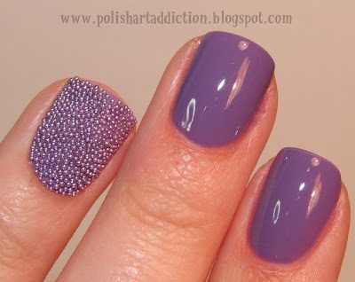 caviar nails: Polish Art, Art Addiction, Caviar Nails, Cute Nails, Accent Nails, Pretty Nails, Nails Polish, Bling Nails, Microbeads Fish Eggs