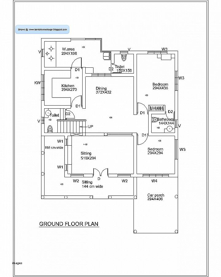 Simple Bedroom Drawing: House Plan 800 Sq Ft Kerala Inspirational Simple Home