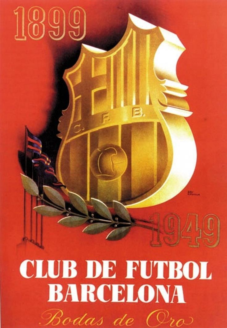Cartel Conmemorativo del 25 aniversario de Football Club Barcelona.
