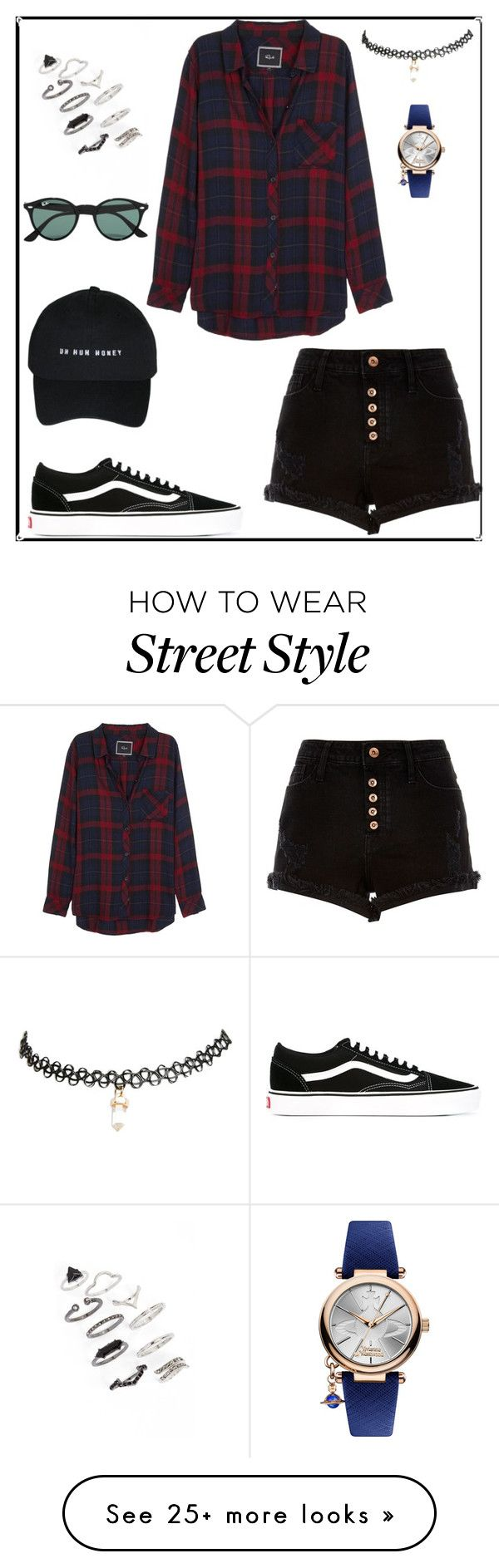 """""""street style"""" by zoelou93 on Polyvore featuring Topshop, Rails, Vans, Wet Seal, Vivienne Westwood, Ray-Ban and River Island"""