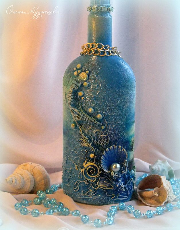 Best 25 decorated bottles ideas on pinterest - How to decorate old bottles ...
