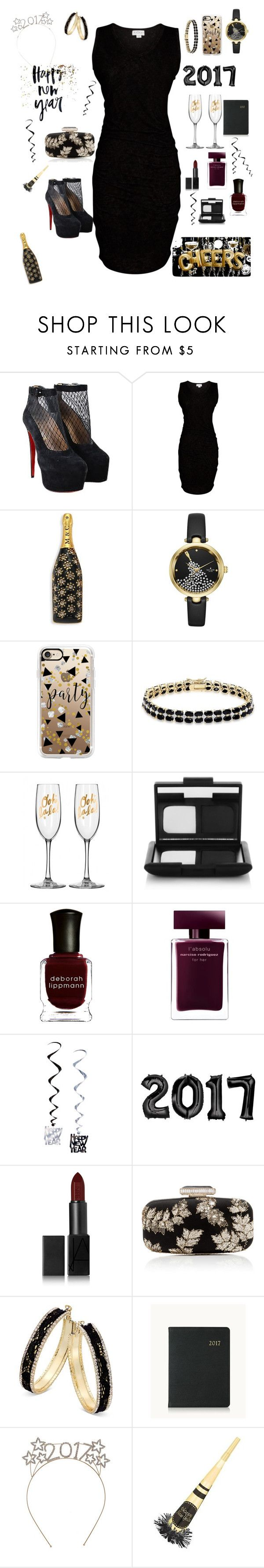 """""""Black and Gold"""" by darkreader ❤ liked on Polyvore featuring Christian Louboutin, Velvet by Graham & Spencer, Marc Jacobs, Kate Spade, Casetify, Dolce Giavonna, NARS Cosmetics, Deborah Lippmann, Narciso Rodriguez and Oscar de la Renta"""