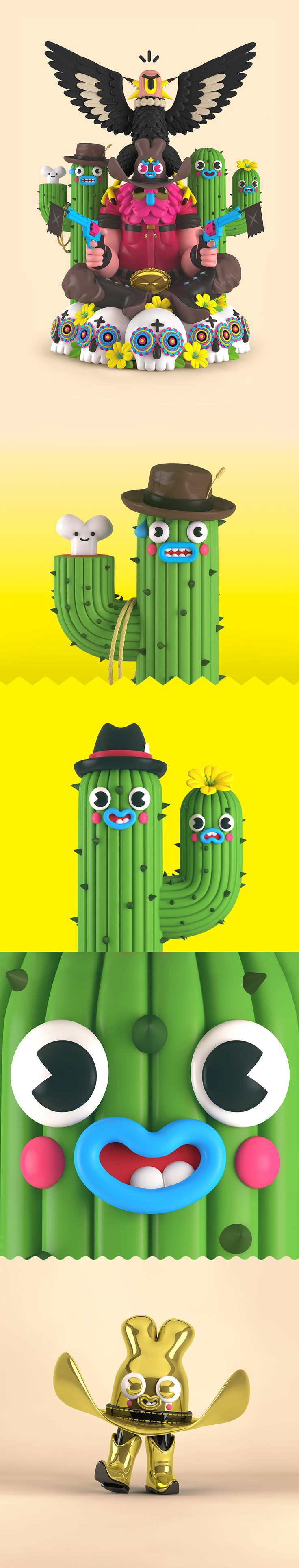 The Colorful, Fun and Hilarious 3D Illustrations of 'El Grand Chamaco'
