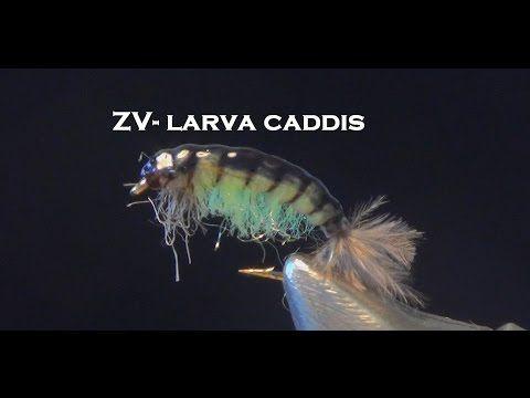 Вязание мушек. Личинка ручейника. Fly tying caddis. - YouTube