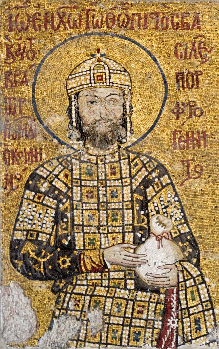 John II Comnenus, Byzantine Emperor 1118-43, detail from Comnenus mosaic, Hagia Sophia, Istanbul, 12th century