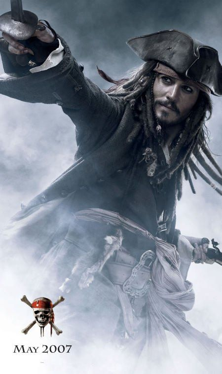 *CAPTAIN JACK SPARROW, played by: Johnny Depp ~ PIRATES OF THE CARIBBEAN: At World's End, 2007