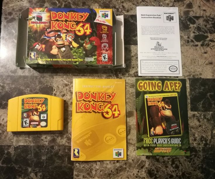 Donkey Kong 64, DK 64 for Nintendo 64, N64. Game, Box, Manual, & Inserts, Diddy