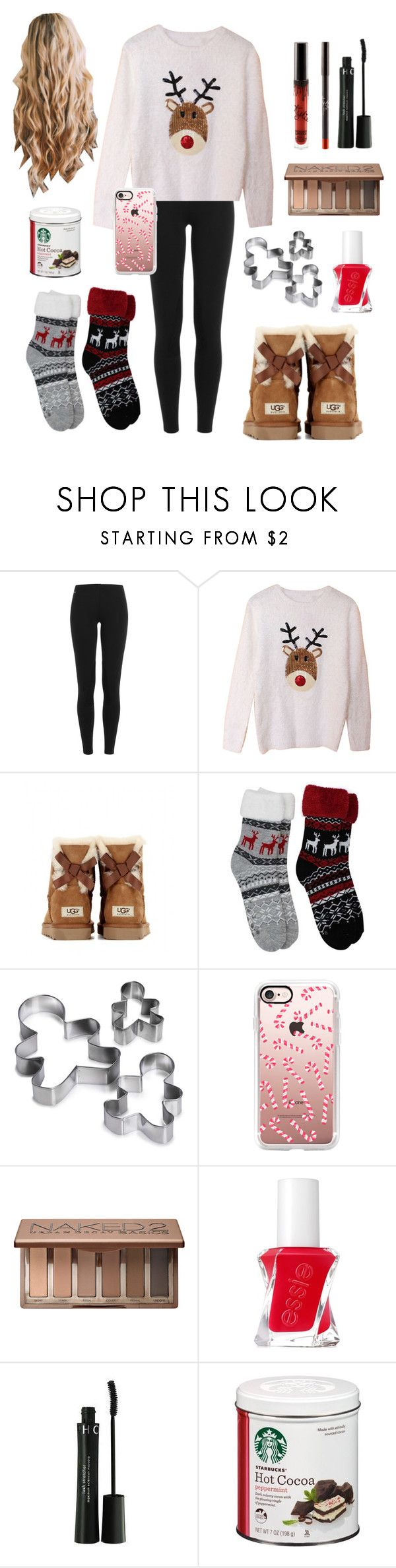 """2 days till Christmas🎅🏼🎄"" by laurenek006 ❤ liked on Polyvore featuring Polo Ralph Lauren, UGG Australia, Casetify, Urban Decay, Essie and Sephora Collection"