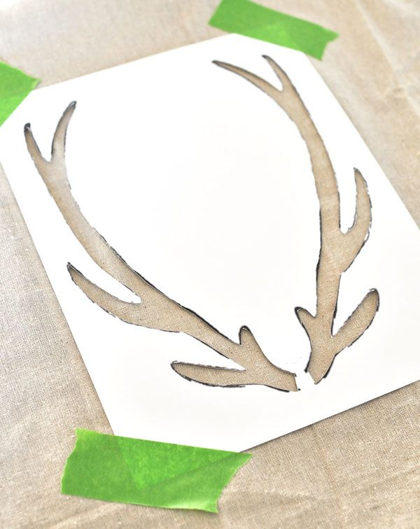 Make your own trendy antler pillow blog make your and love for Fake deer antlers for crafts