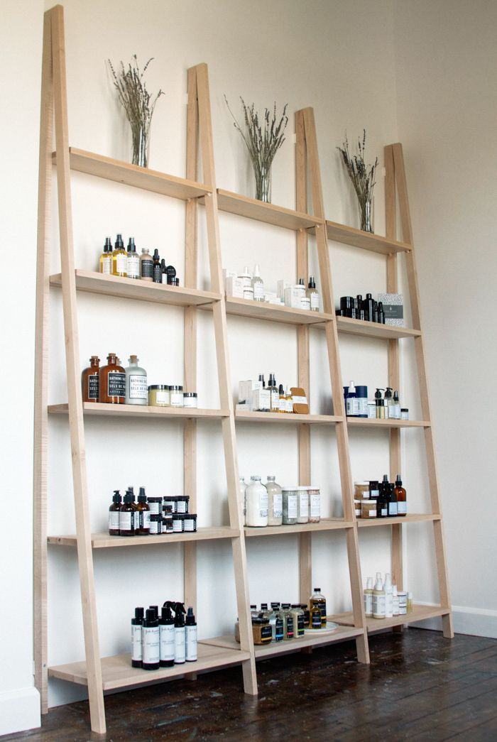 be clean shelves stocked full of greenbeauty and vegan skincare beauty room salonbeauty salon designhair