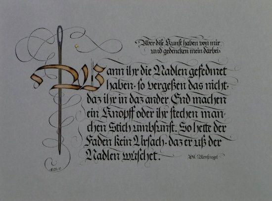 Gothique fraktur Erich Meister http://www.swiss-kalligraphie.ch
