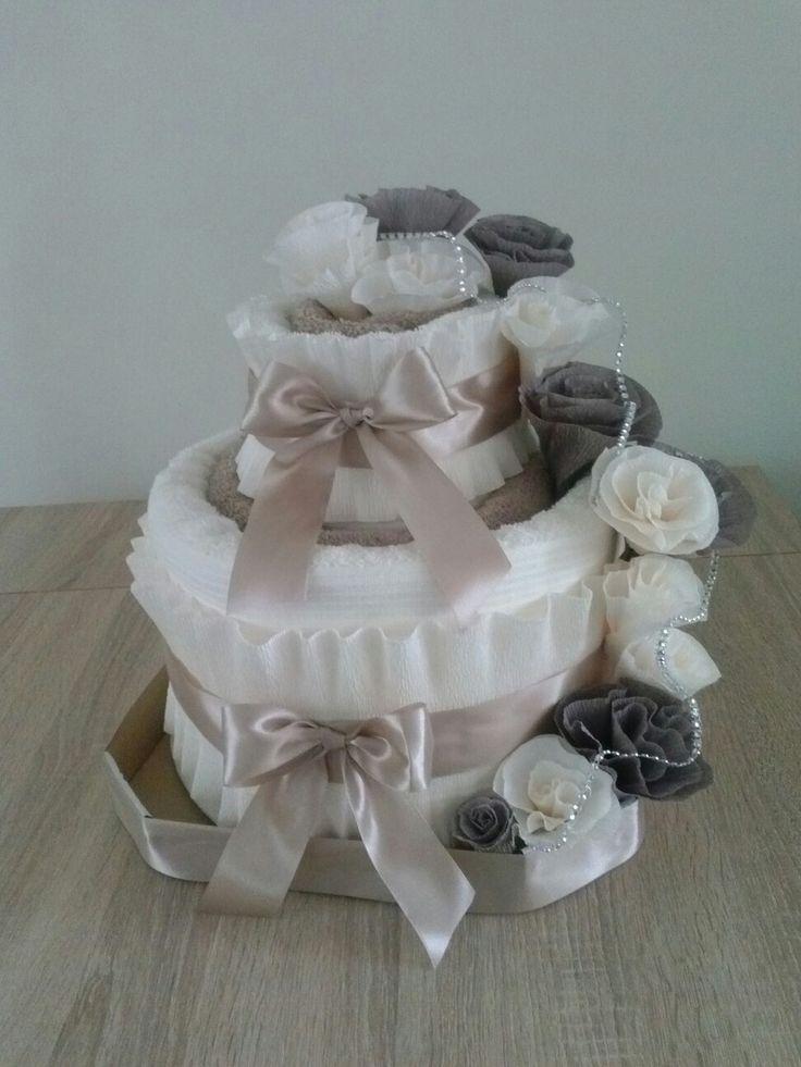 Tort z ręczników, ślub