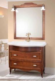 Setul mobilier baie din lemn masiv Savini Due Daiana Rustic