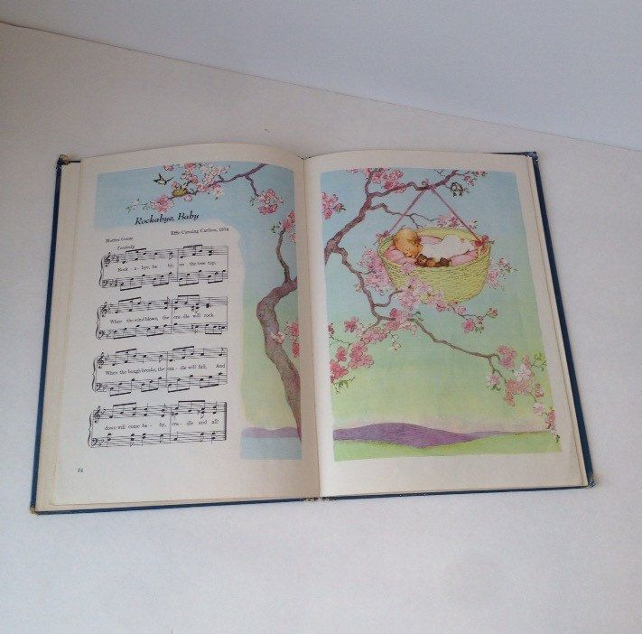 Favorite Nursery Songs Vintage Childrens Songs Book 1950s Art Music Paper Little Bo Peep Mother Goose by SissyBoomsPartyRoom on Etsy