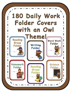 Classroom Owl Themed Daily Work Folder Covers! 180 pages of Homework Folder,   Reading Folder,   Math Folder  Science Folder,   Social Studies Folder,   Word Work Folder  Spelling Folder,   Vocabulary Folder,   Reading Group Folder  Language Arts Folder,   Take Home Folder,   Writing Folder  Phonics Folder,   Work Station Folder,   Center Folder