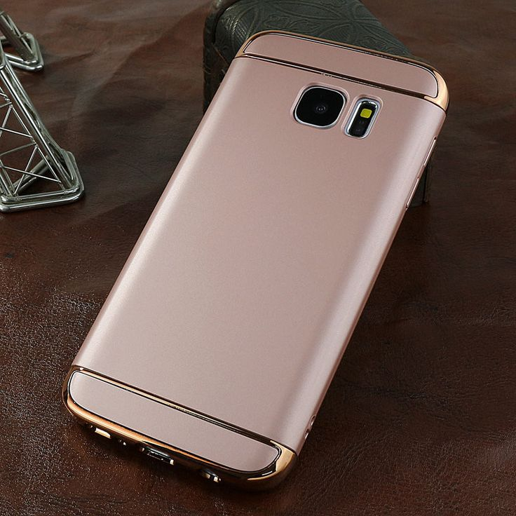 Case Cover For Samsung Galaxy S7 Edge Matte 3 In 1 Case Phone Bag Case Gold 360 Degree Protection For Samsung S7 Edge