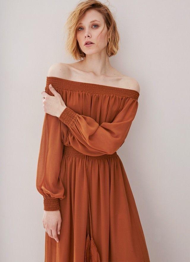 Vestido largo estilo boho - ADOLFO DOMINGUEZ Woman Spring Summer 2016