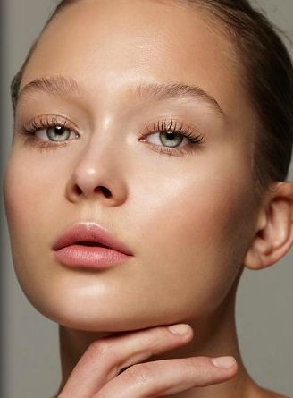 Nude blush creates a summer glow. #summerbeauty #nude #naturalmakeup
