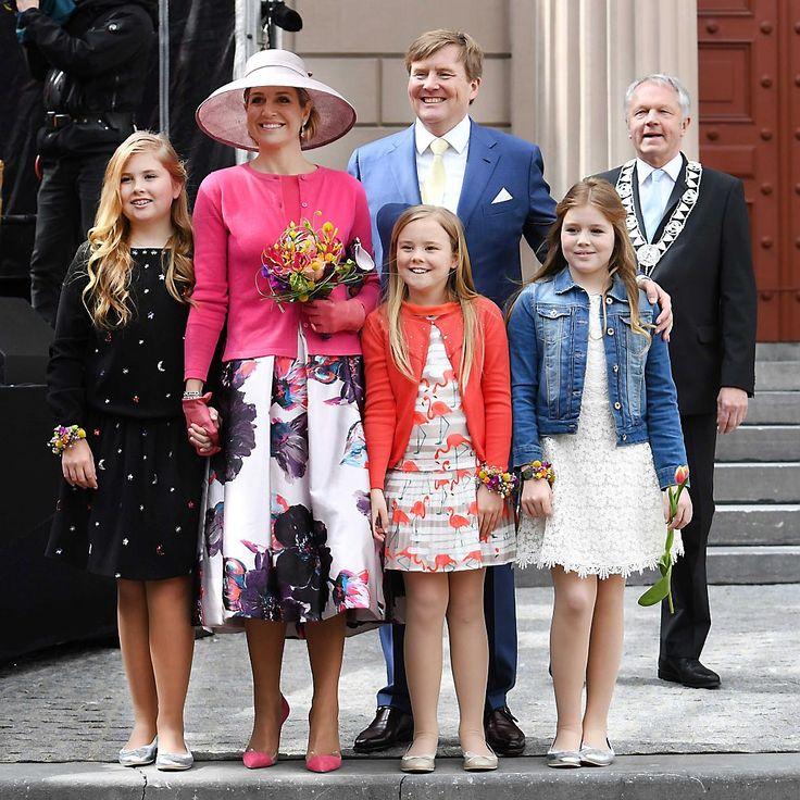 Dutch Royal Family celebrate Kingsday 2016 Koningsdag Zwolle 27 Apr