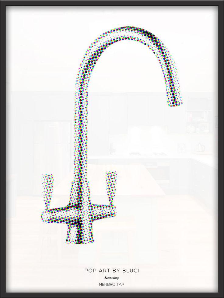 Pop art advert design featuring the Bluci Nenbro tap