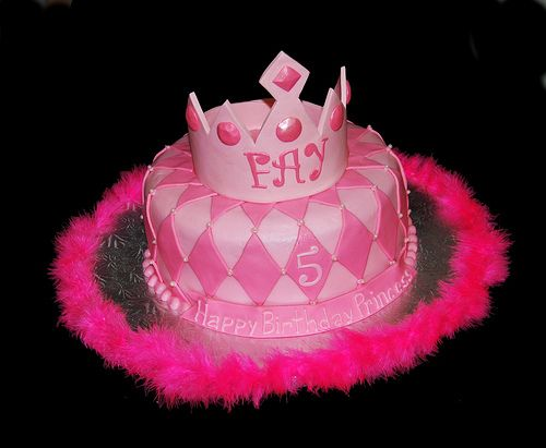 Cakes Ideas Simple Girly Patterned