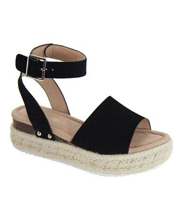 349559de27f Love this Black Ankle-Strap Bessy Platform Espadrille - Women on  zulily!