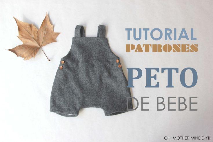 DIY Patrones Peto de Bebé (tutorial paso a paso)