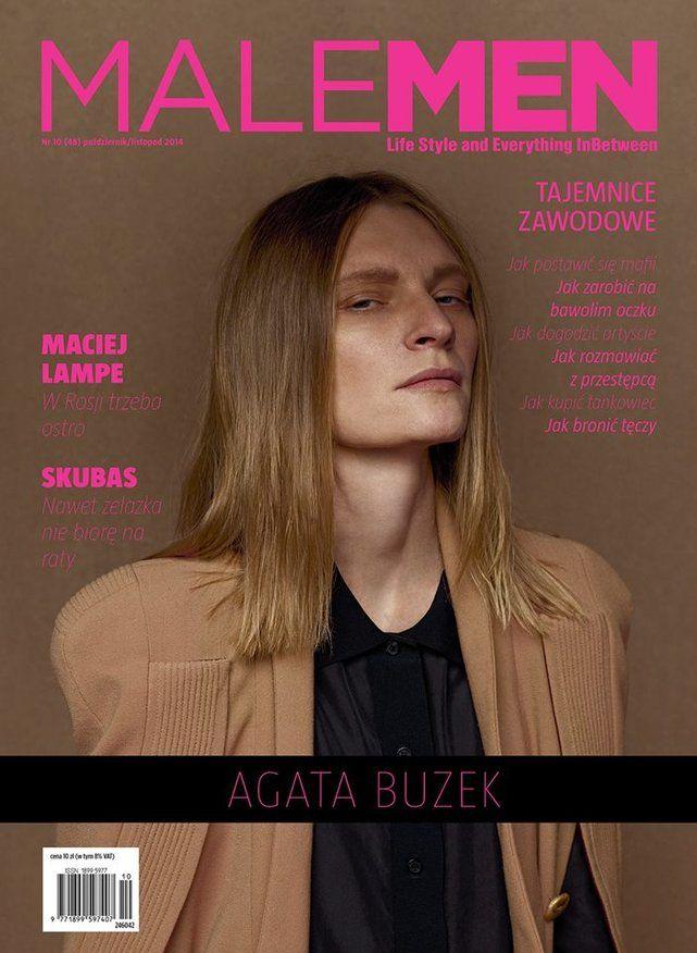 Agata Buzek w magazynie Malemen. Sfotografował Jacek Kołodziejski