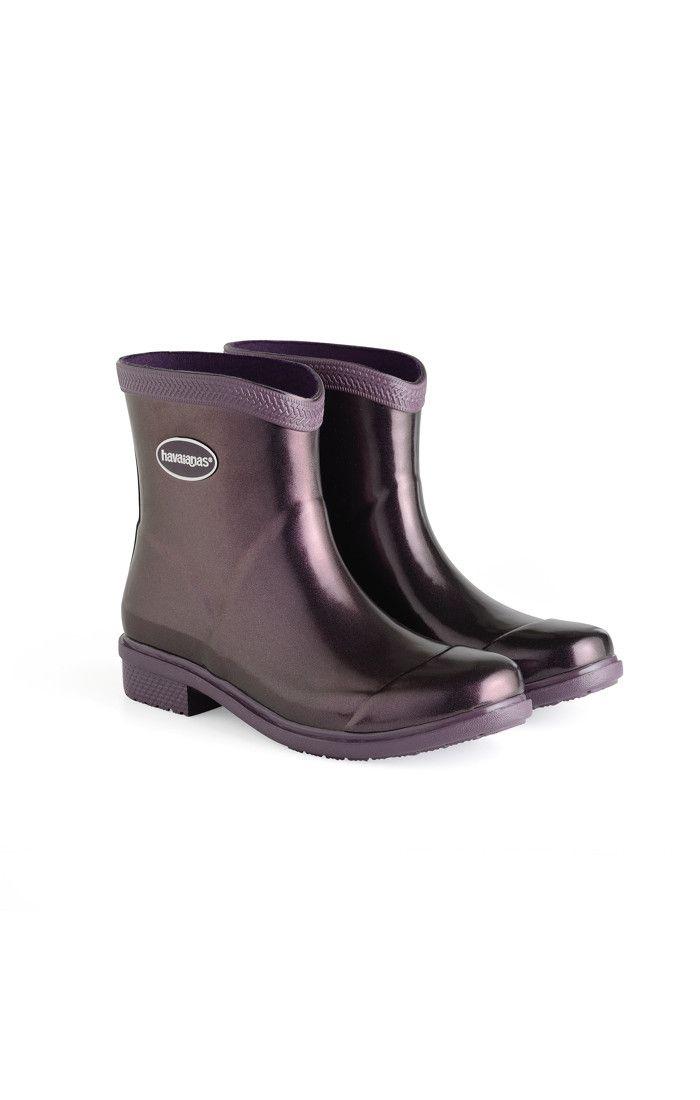 c9fa5ee57e4c Havaianas Galochas Low Metallic Rain Boot Aubergine Metallic Price From   58