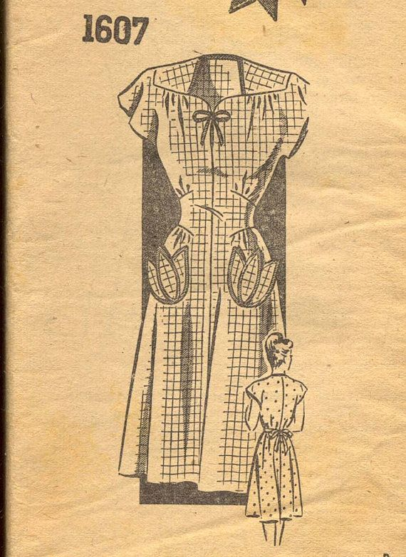 Barbara Bell 1607 Misses 1940s Dress Pattern Tulip by CynicalGirl