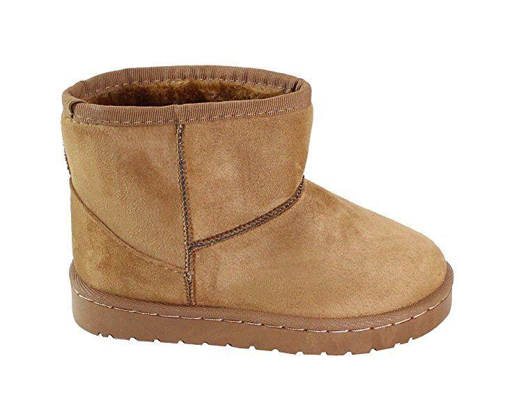 acheter en ligne 3e04a cdf70 By Shoes - Bottine Fourrée Style Daim Pour Enfant - Taille ...