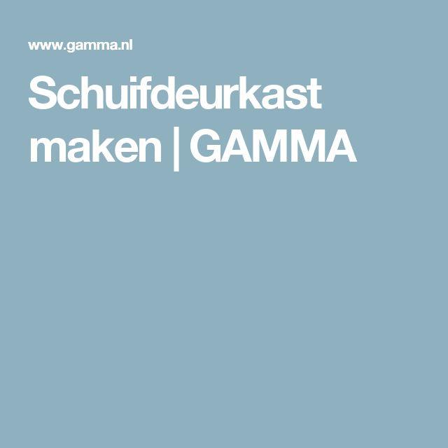 Schuifdeurkast maken | GAMMA