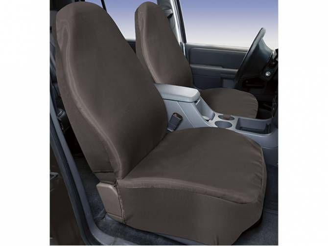 Charcoal Ballistic Canvas Front Seat Covers